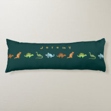 Cute Dinosaurs Personalized Pillow Add Your Name Body Pillow