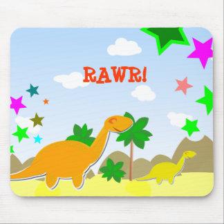 Cute Diplodocus Cartoon Dinos Kids Mousepad