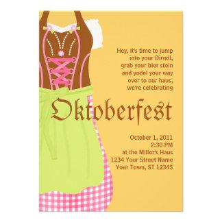 Cute Dirndl Oktoberfest Invitation