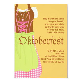 Cute Dirndl Oktoberfest Invitation