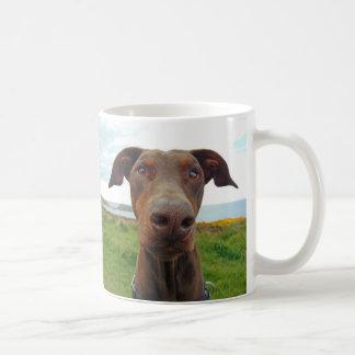 Cute doberman dog coffee mug