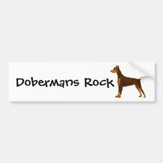Cute Doberman Pinscher Art Design Car Bumper Sticker