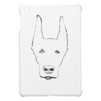 Cute Doberman Pinscher Dog Face Sketch iPad Mini Cover