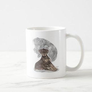 Cute Doberman Pinscher Puppy Classic White Coffee Mug