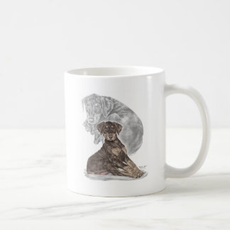 Cute Doberman Pinscher Puppy Coffee Mug