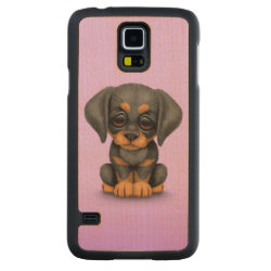 Carved ® Samsung Galaxy S5 Slim Wood Case with Doberman Pinscher Phone Cases design