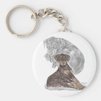 Cute Doberman Pinscher Puppy Keychain