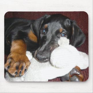 Cute Doberman Pinscher Puppy Mousepad