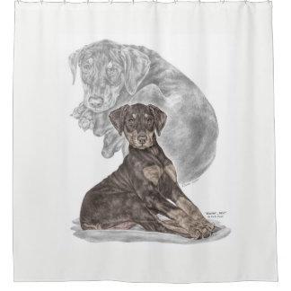 Cute Doberman Pinscher Puppy Shower Curtain