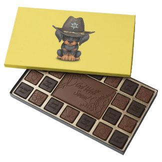 Cute Doberman Puppy Dog Sheriff 45 Piece Box Of Chocolates