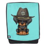 Cute Doberman Puppy Dog Sheriff Backpack