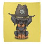 Cute Doberman Puppy Dog Sheriff Bandana