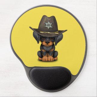Cute Doberman Puppy Dog Sheriff Gel Mouse Pad