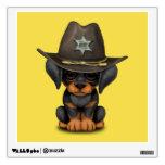 Cute Doberman Puppy Dog Sheriff Wall Sticker