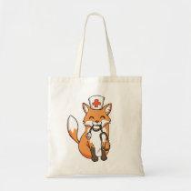 Cute Doctor Nurse Fox Stethoscope Drawing Tote Bag