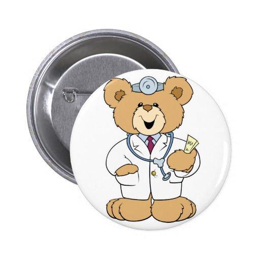 Cute Doctor Teddy Bear Pin