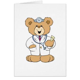 Cute Doctor Teddy Bear Greeting Card