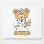 Cute Doctor Teddy Bear Mouse Mat