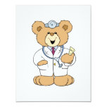 Cute Doctor Teddy Bear Personalized Invites