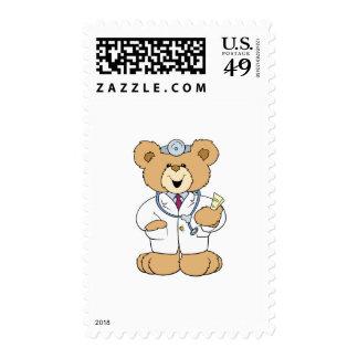 Cute Doctor Teddy Bear Postage Stamp