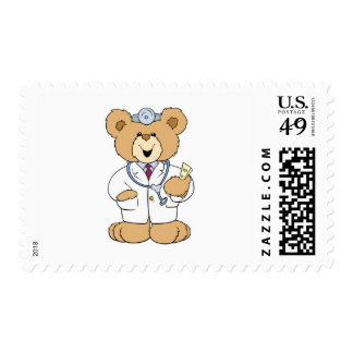 Cute Doctor Teddy Bear Postage Stamps