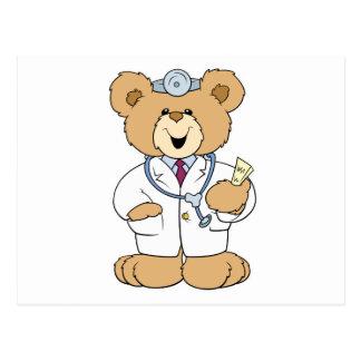 Cute Doctor Teddy Bear Postcard