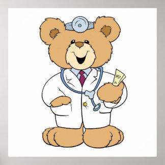 Cute Doctor Teddy Bear Print