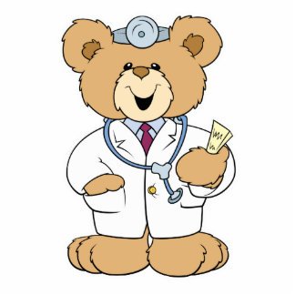 Cute Doctor Teddy Bear Statuette
