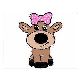 Cute Doe Deer Wearing a Hair Bow Postcard