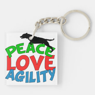 Cute Dog Agility Keychain