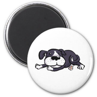 Cute Dog All Flopped Out 2 Inch Round Magnet