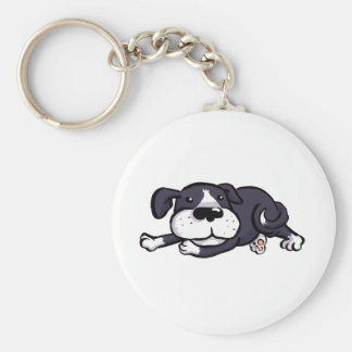 Cute Dog All Flopped Out Keychain