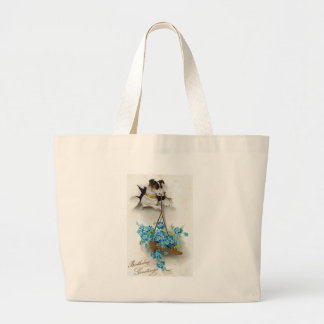 Cute Dog and Shoe Birthday Greetings Jumbo Tote Bag
