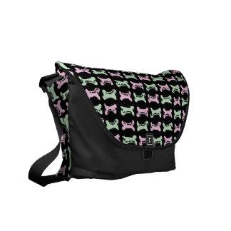 Cute Dog Bone Pattern Messenger Bag