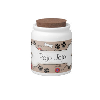 Cute Dog Bone Treat Jar Candy Jars