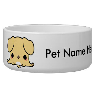 Cute Dog Bowl (You Change the Background Color!)