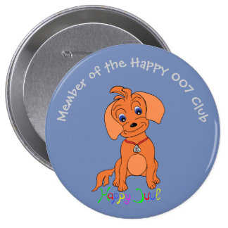 Cute Dog Boys-Club-Membership-Button - Happy Button