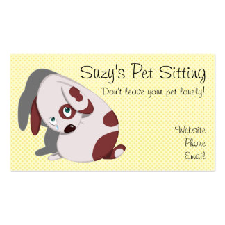 Cute Dog Business Cards
