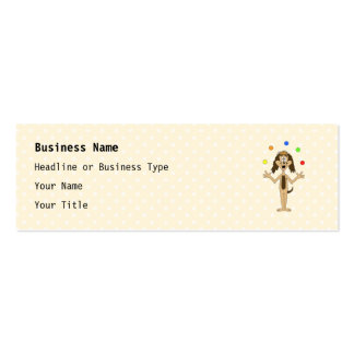Cute Dog Cartoon. Juggler. Double-Sided Mini Business Cards (Pack Of 20)