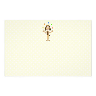 Cute Dog Cartoon. Juggler. Flyer