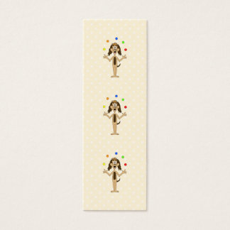 Cute Dog Cartoon. Juggler. Mini Business Card