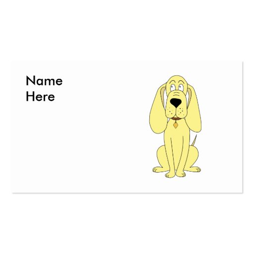 Cute Dog Cartoon. Yellow Hound. Double-Sided Standard Business Cards (Pack Of 100)