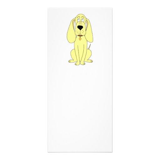 Cute Dog Cartoon. Yellow Hound. Custom Rack Card