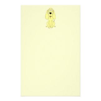 Cute Dog Cartoon. Yellow Hound. Stationery