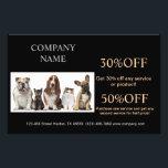 """Cute dog cat pet sitter animal sitter pet groomer flyer<br><div class=""""desc"""">Cute dog cat pet sitter animal sitter pet groomer business cards.</div>"""