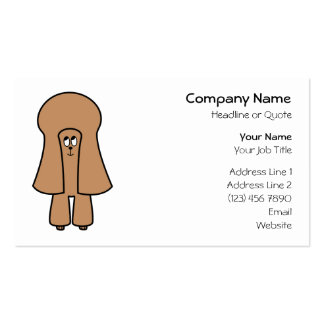 Cute Dog. Chocolate Brown Miniature / Toy Poodle. Business Card