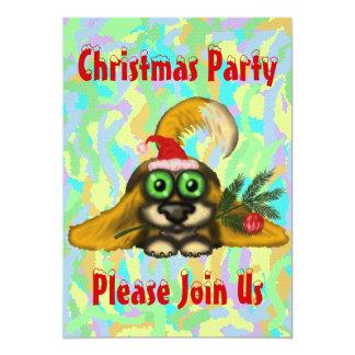 "Cute dog Christmas party invitation card design 5"" X 7"" Invitation Card"
