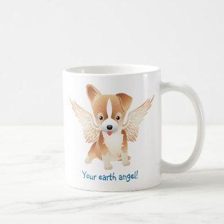 Cute Dog Coffee Mug w/ Angel Wings