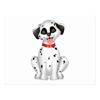 Cute dog Dalmatian Postcard