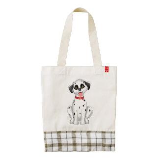 Cute dog Dalmatian Zazzle HEART Tote Bag